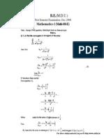 17 Mathematics I7