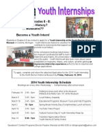 Youth Internship Application 2014