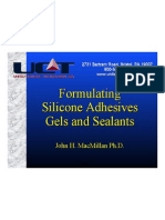 Formulating Silicone Adhesives Rubbers and Gels