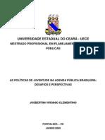 As políticas de juventude na agenda pública brasileira_JOSBERTINI CLEMENTINO 2009