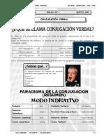 III BIM - LENG - 5TO AÑO - GUIA Nº 4 - Conjugación Verbal