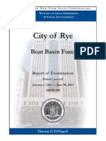 Rye City Boat Basin fund audit, January 2014