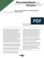 Tecnicas de Aplicacao de Inseticidas Com Pulverizadores Costais Manuais e Motorizados