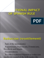 Institutional Impact of Spanish Rule