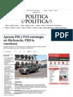 14-01-14 Apoyan PRI y PAN estrategia en Michoacán, PRD la cuestiona - Grupo Milenio