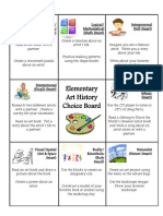 elementary choice boards