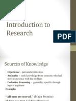 Introduction to Researcintroduction to research h