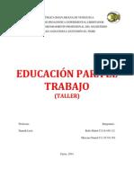 TALLER EDUCACIÓN PARA EL TRABAJO