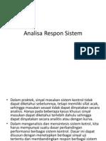 Analisa Respon Sistem