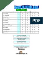 Clasificación segunda jornada IX Campeonato de Fútbol Sala