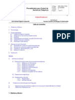 SGC-GRL-P-035, Proc. Para Control de Sustancias Peligrosas