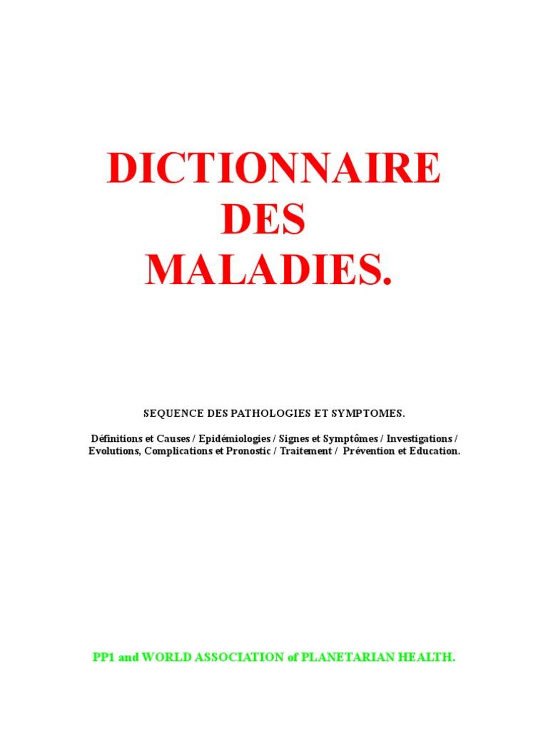 Dictionnaire Des Maladies