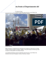 Masiva Protesta Frente Al Departamento Del Trabajo