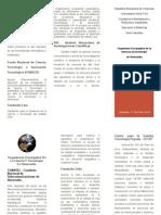 TRIPTICO ORGANISMO E INSTITUCIONES CIENCIA.doc