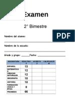 examen 2° bimestre