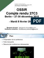 Compte Rendu 27C3 OSSIR
