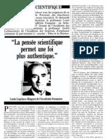 Credo de Scientifique Science Et Foi