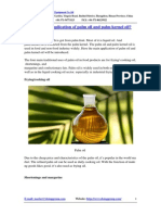 What's the Application of Palm Oil and Palm Kernel Oil