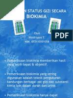 Penilaian Status Gizi Secara Biokimia