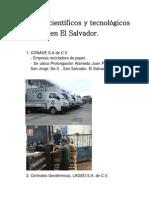 Avances científicos y tecnológicos en El Salvador