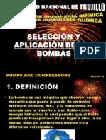 SELECCIÓN Y APLICACIÓN DE LAS BOMBAS grupo 3