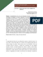 FILOSOFIA E ECOLOGIA – PARA UMA EDUCAÇÃO AMBIENTAL