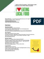 Organic Food Resource List in Perth Western Australia January 2014