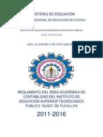 Reglamento Del Area Academica de Contabilidad
