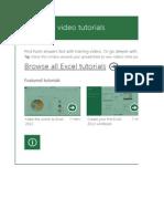 Excel Video Tutorials App1