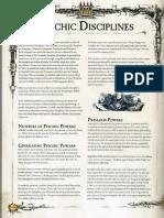 40k warhammer 6ed Psychic Disciplines