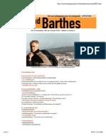 """""""Parcours pédagogique - Roland Barthes"""""""