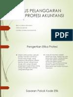 Kasus Pelanggaran Etika Profesi Akuntansi Ppt