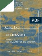 Ciclo de Cuartetos de Beethoven