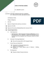 Jan. 22 Board of Trustees Agenda