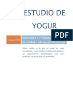 Estudio de Yogurt