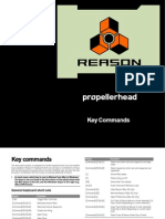 Propellerheads Reason 4 Key Commands