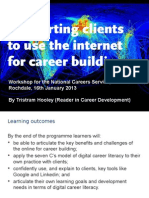 Supportiing client to use the internet for career building (Rochdale)