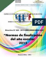 Normatividad Directiva de Finalizacion 2013- Oficial