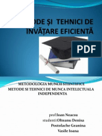 Metode Si Tehnici de Invatare Eficienta
