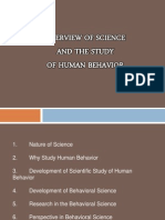 Overview Science and Study of Human Behavior