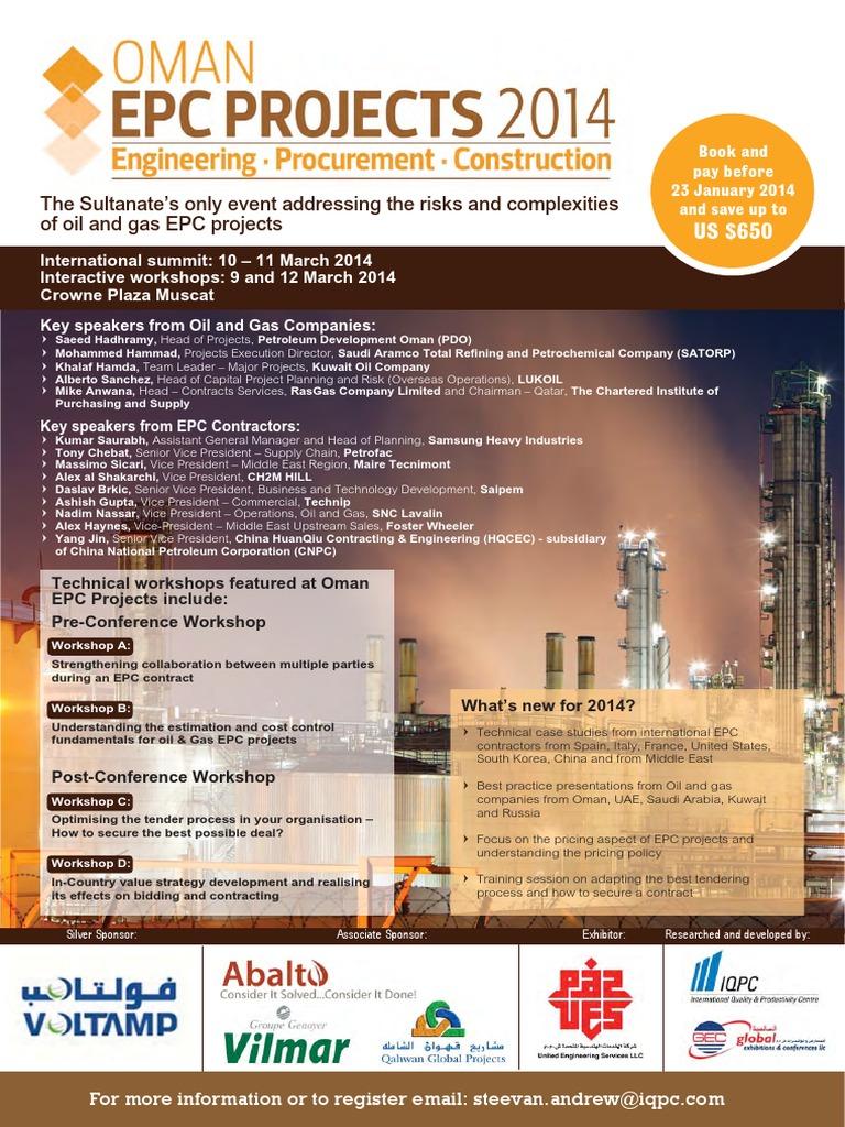 Oman EPC Projects | Procurement | Payments