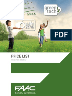 FAAC Product Catalog Price List 2013