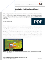 Power Integrity Simulation for High Speed Board Using CST PCBS (1)
