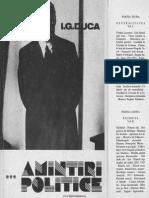 IG Duca Amintiri Politice Volumul 3
