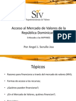 Acceso Mercado Valores Republica Dominicana