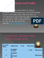 Polytecnic Courses after 10+2 in Gyan Jyoti.. Information Technology