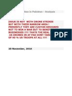US Drone Strikes in Pakistan-Analysis