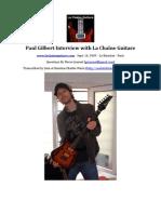 LCG-022-20090921 Paul Gilbert Interview