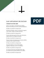 Las Letanias de Satan - Charles Baudelaire