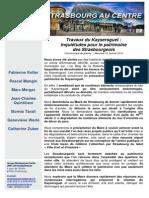 14.01.15.Kaysersguet inquiétudes pour le patrimoine des Strasbourgeois.Strasbourg Au Centre
